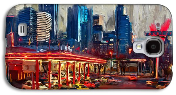 Atlanta Skyline 231 1 Galaxy S4 Case by Mawra Tahreem