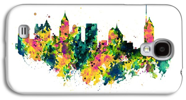 Atlanta Watercolor Skyline  Galaxy S4 Case