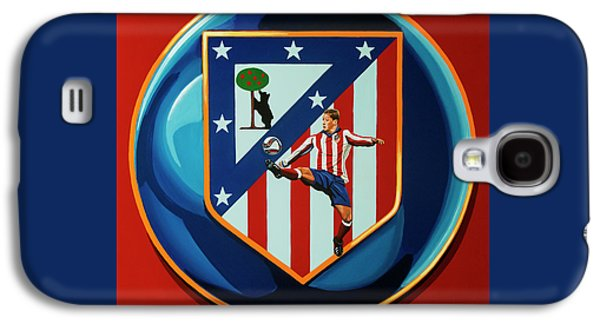 Atletico Madrid Painting Galaxy S4 Case