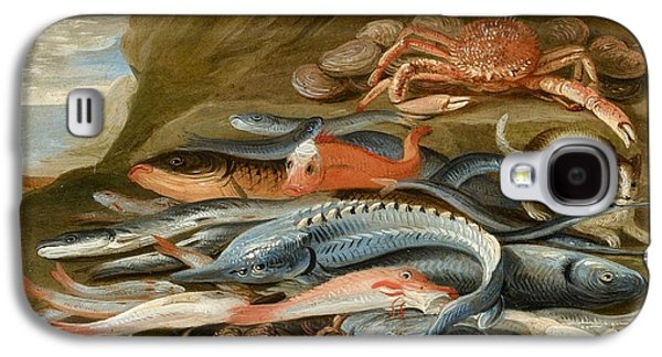 attributed to Still Life with Fish Galaxy S4 Case by Jan van Kessel