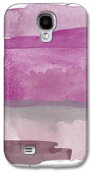 Aubergine Wash- Art By Linda Woods Galaxy S4 Case by Linda Woods