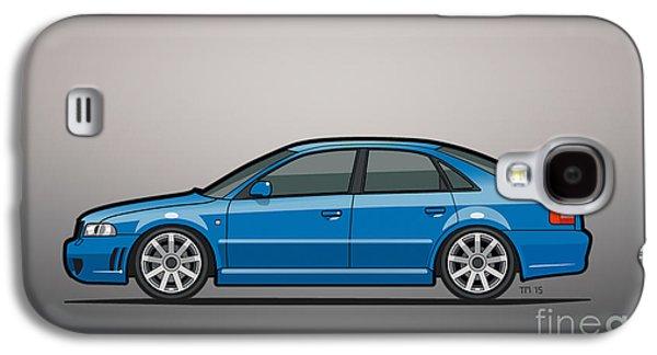 Audi A4 S4 Quattro B5 Type 8d Sedan Nogaro Blue Galaxy S4 Case by Monkey Crisis On Mars