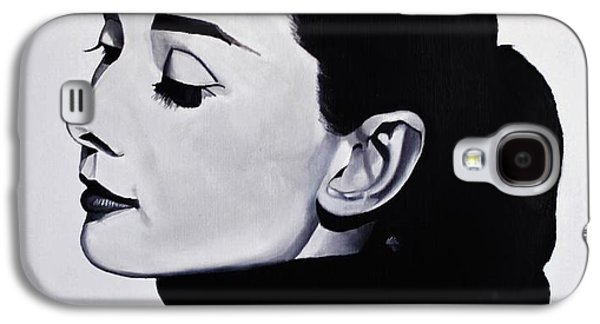 Audrey Hepburn 1 Galaxy S4 Case by Brian Broadway