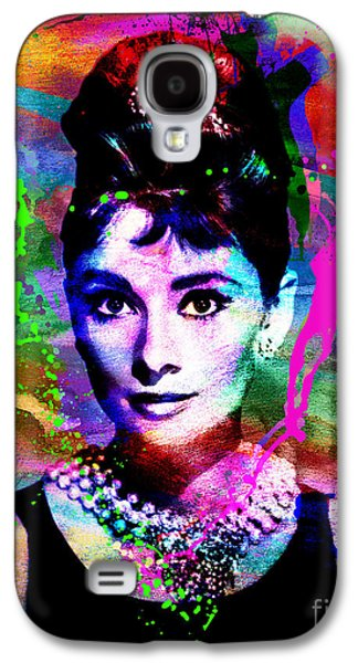 Audrey Hepburn Art Galaxy S4 Case by Ryan Rock Artist