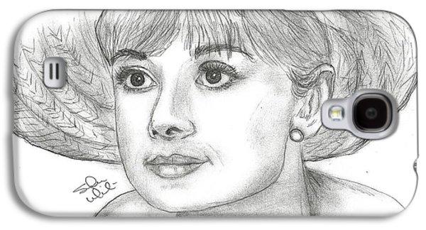 Audrey Hepburn Smile Galaxy S4 Case by Steven White