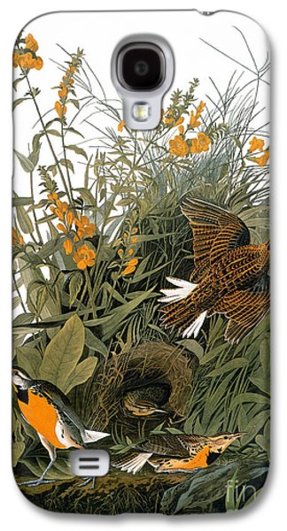 Audubon: Meadowlark Galaxy S4 Case by Granger
