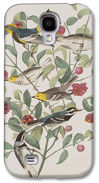 Warbler Galaxy S4 Case - Audubons Warbler Hermit Warbler Black-throated Gray Warbler by John James Audubon