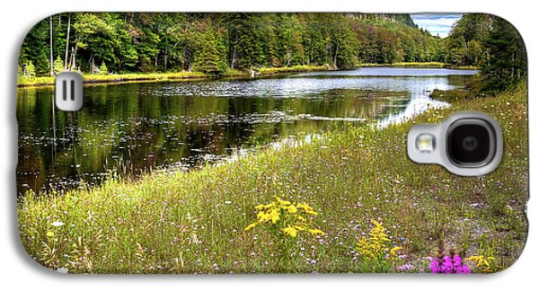 Galaxy S4 Case featuring the photograph August Flowers On The Pond by David Patterson
