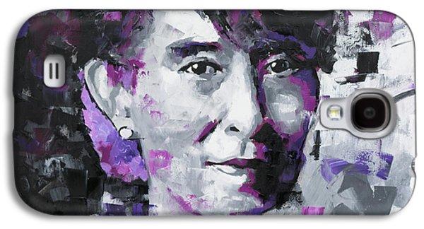 Aung San Suu Kyi Galaxy S4 Case by Richard Day