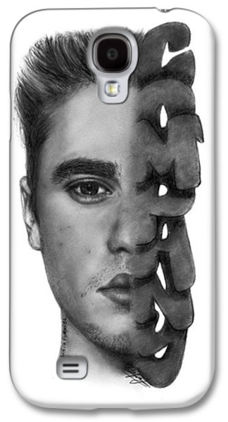Justin Bieber Drawing By Sofia Furniel Galaxy S4 Case