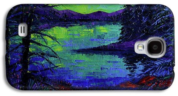 Aurora Borealis Dreamscape Galaxy S4 Case by Mona Edulesco