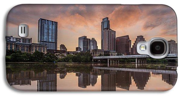 Austin Skyline Sunrise Reflection Galaxy S4 Case