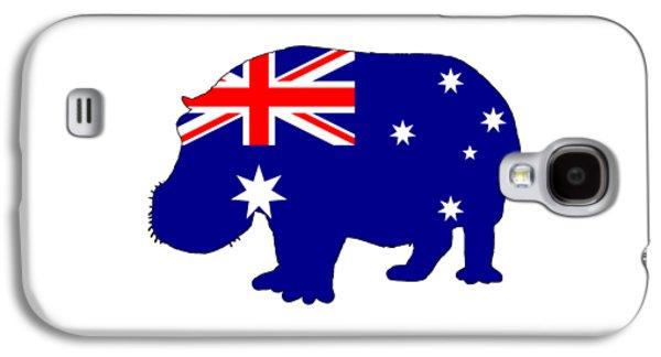 Australian Flag - Hippopotamus Galaxy S4 Case
