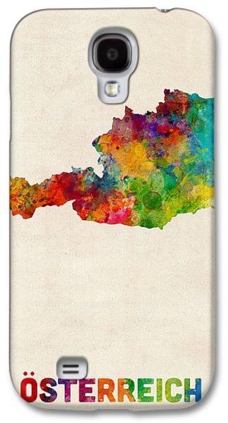 Austria Watercolor Map Galaxy S4 Case by Michael Tompsett
