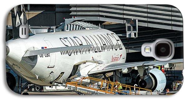 Austrian Star Alliance At Preparation Aircraft Befthe Gate Of Zurich Galaxy S4 Case