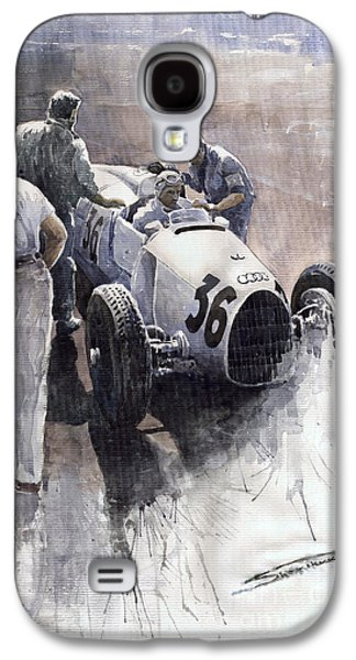 Sports Galaxy S4 Case - Auto Union B Type 1935 Italian Gp Monza B Rosermeyer by Yuriy Shevchuk