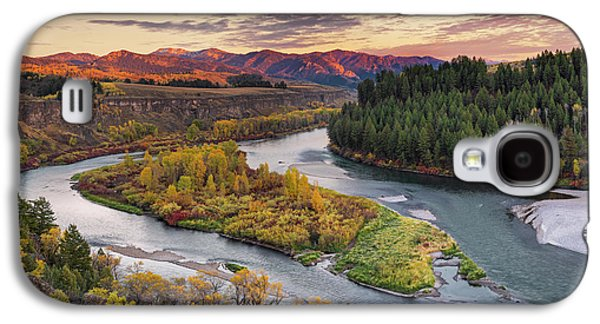 Mountain Sunset Galaxy S4 Case - Autumn Along The Snake River by Leland D Howard