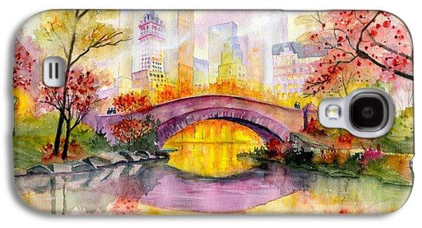Bridges Galaxy S4 Case - Autumn At Gapstow Bridge Central Park by Melly Terpening