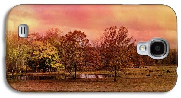 Autumn At The Cattle Farm Landscape Art Galaxy S4 Case