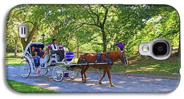 Autumn Carriage Ride Galaxy S4 Case by Allen Beatty