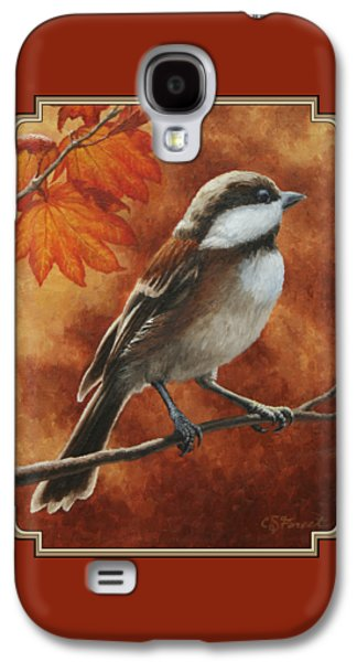 Autumn Chickadee Galaxy S4 Case