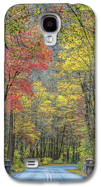 Autumn Drive Through Pisgah National Forest Galaxy S4 Case