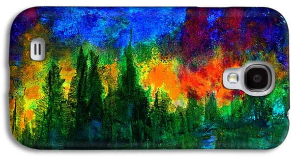 Galaxy S4 Case featuring the painting Autumn Fires by Claire Bull