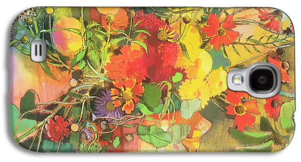 Autumn Flowers  Galaxy S4 Case by Claire Spencer