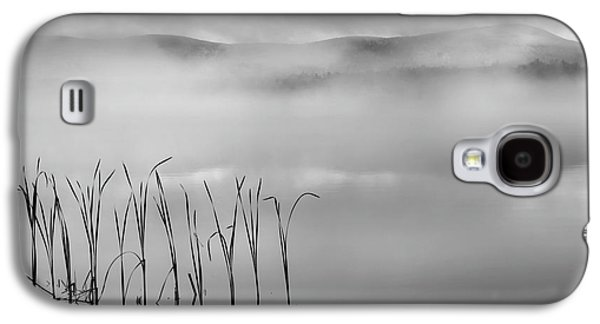 Galaxy S4 Case featuring the photograph Autumn Fog Black And White Square by Bill Wakeley
