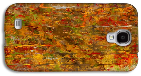 Autumn Foliage Abstract Galaxy S4 Case by Lourry Legarde