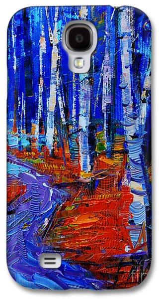 Autumn Impression Galaxy S4 Case by Mona Edulesco