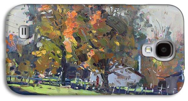 Autumn In The Farm Galaxy S4 Case by Ylli Haruni