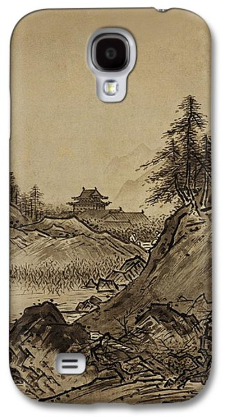 Autumn Landscape Sesshu Toyo 1496 Galaxy S4 Case by Movie Poster Prints