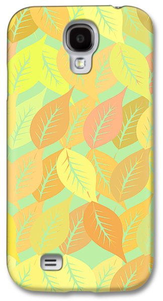 Autumn Leaves Pattern Galaxy S4 Case by Gaspar Avila