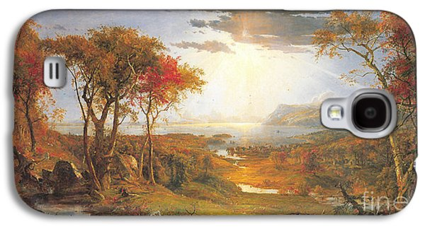 Autumn On The Hudson Rive Galaxy S4 Case by Celestial Images