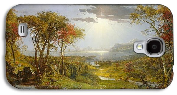 Autumn On The Hudson River  Galaxy S4 Case by MotionAge Designs