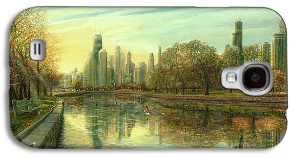 Hancock Building Galaxy S4 Case - Autumn Serenity by Doug Kreuger