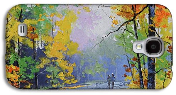 Fall Scenes Galaxy S4 Case - Autumn Stroll by Graham Gercken