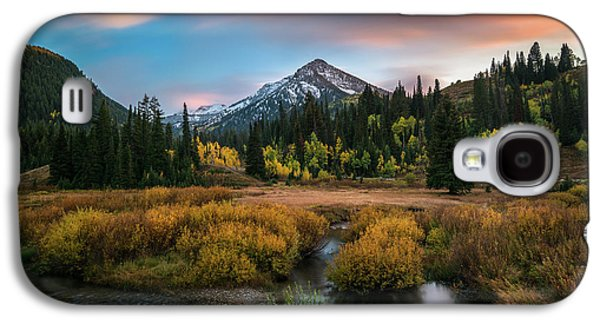 Autumn Sunset In Big Cottonwood Canyon Galaxy S4 Case