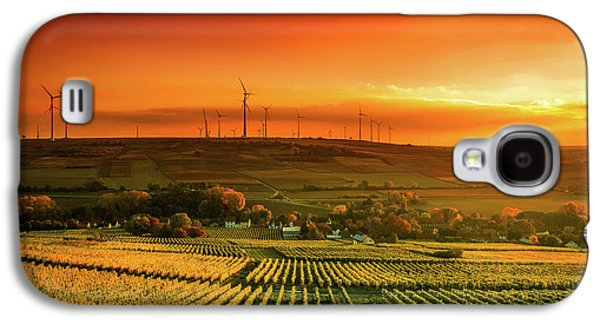 Autumn Vineyards Sunset Galaxy S4 Case by Unsplash - Karsten Wurth
