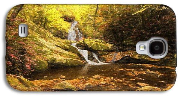 Autumn Waterfall In The Smokies Galaxy S4 Case