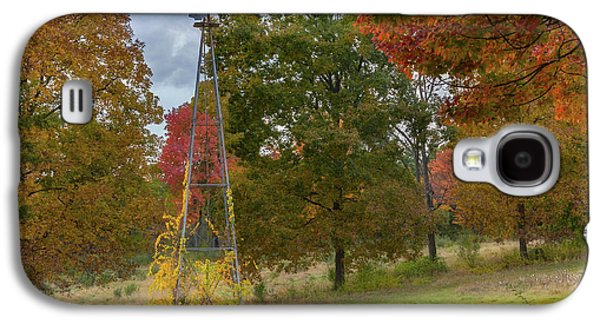 Galaxy S4 Case featuring the photograph Autumn Windmill Square by Bill Wakeley