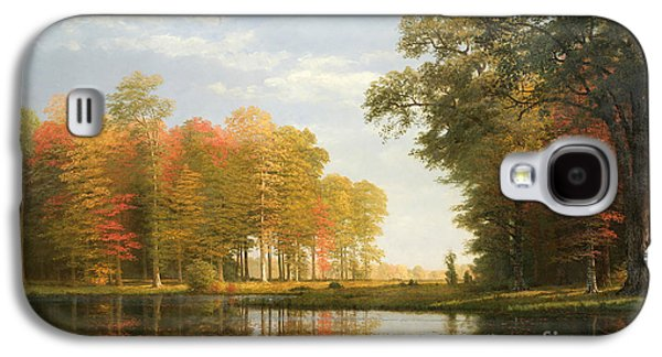 Autumn Woods Galaxy S4 Case by Albert Bierstadt