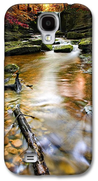 Pebbles Galaxy S4 Cases - Autumnal Waterfall Galaxy S4 Case by Meirion Matthias