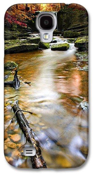 Autumnal Waterfall Galaxy S4 Case by Meirion Matthias