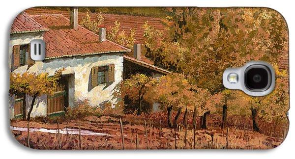 Rural Scenes Galaxy S4 Case - Autunno Rosso by Guido Borelli