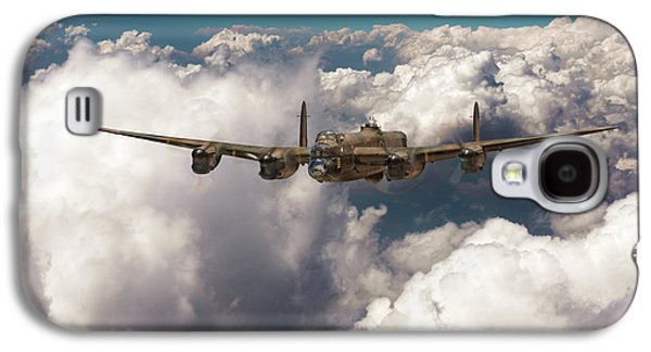 Galaxy S4 Case featuring the photograph Avro Lancaster Above Clouds by Gary Eason