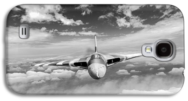 Galaxy S4 Case featuring the digital art Avro Vulcan Head On Above Clouds by Gary Eason