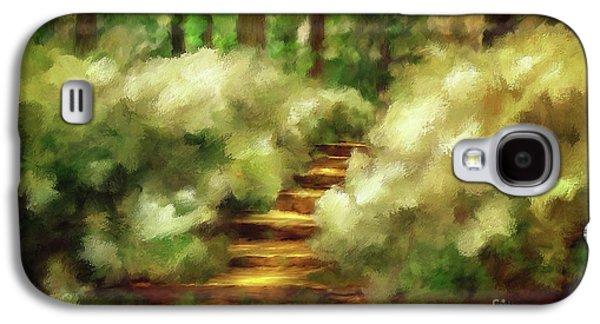 Azalea Stairs Galaxy S4 Case by Lois Bryan