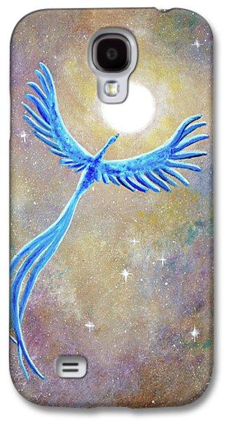 Azure Blue Phoenix Rising Galaxy S4 Case by Laura Iverson